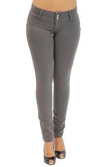 LALANG New Women's Stretch Leggings High Waist Pants Grey Price Philippines