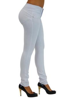 LALANG New Women's Stretch Leggings High Waist Pants White Price Philippines