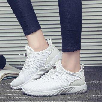 LALANG Sport Sneaker Mesh Breathable Running Shoes (White) - intl - 2