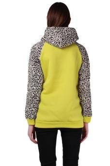 LALANG Women Casual Letter Printed Hoodies Fleece Sweatshirt Yellow