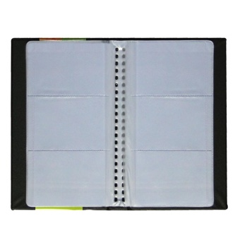 Large Capacity PU Leather Cards Organizer Holder Book for 240 Business Card Credit Card ID Card Black - intl