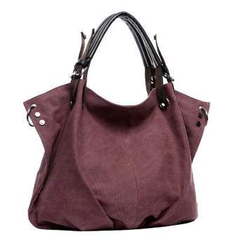 Large Capacity shoulder bag (Purple coffee color 973)