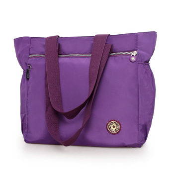 Large Capacity travel women's bag shopping bag (Purple)