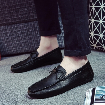 Lazy Korean-style men New style men's shoes Shoes (K60 black)