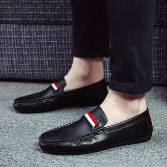 Lazy Korean-style men New style men's shoes Shoes (K62 black)