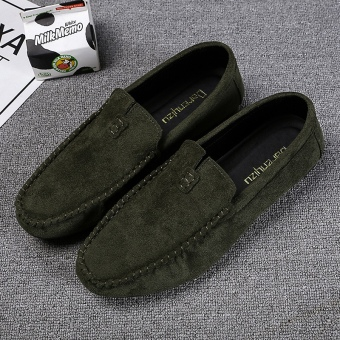 Lazy Korean-style red men shoes men's casual shoes (Green)