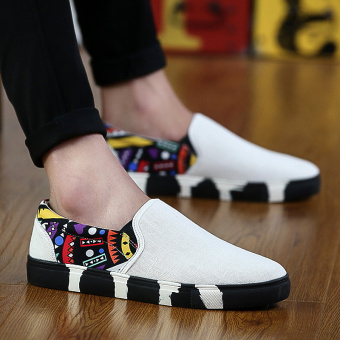lazy old beijing canvas a pedal trendy shoes men's casual