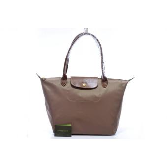 LC Le Pliage Large Long Handle LONGCHAMP Free Twilly & CharmOriginal (PRALINE) Made in France Price Philippines