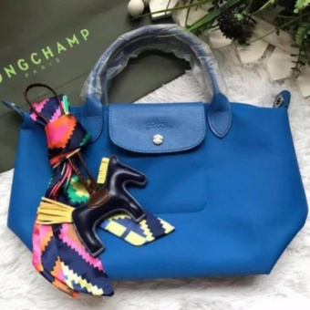 LC Le Pliage Neo Small Short Handle Free Twilly & CharmOriginal (ROYAL BLUE) Made in France Longchamp Price Philippines