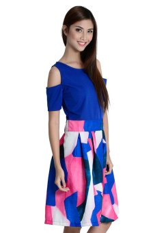 Leah 3 Butterflies Full Dress By Fashion Haus Online (Blue)