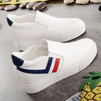 Leather autumn thick bottomed within by Gao Xiaobai shoes (White Orchid)