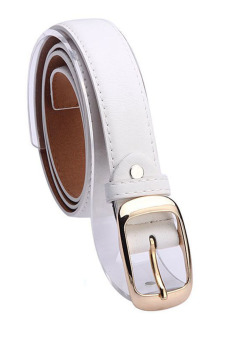 Leather Belts for Women (White)