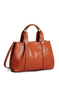 Leather Handbag (Brown) - picture 2