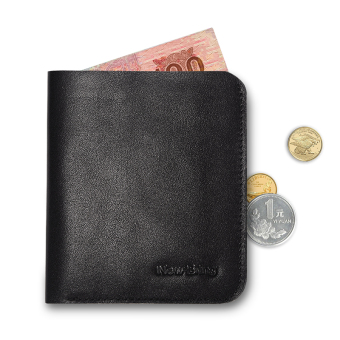Leather slim men Mini Wallet small wallet