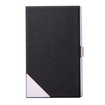 Leather Stainless steel Metal Credit Business ID Card Case Holder TS-RR56 - Intl
