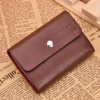 Leather Women's card holder credit card Sets card holder (Light brown color)