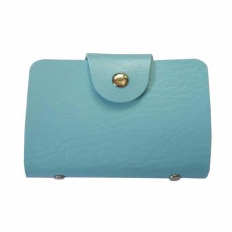 Leatherette Card Holder (Sky Blue) Price Philippines