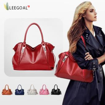 leegoal Fashion Women Casual Soft Bag Handle Bag Messenger BagShoulder Bag,Burgundy - intl