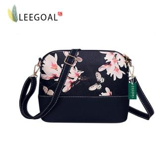 Leegoal Flower Pattern Leather Messenger Bag Crossbody Shoulder Bags For Women, Flower - intl