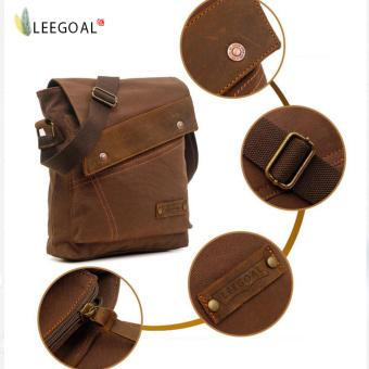 leegoal Men Vintage Casual Canvas Cross-Body Bag, Coffee - intl