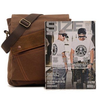 leegoal Men Vintage Casual Canvas Cross-Body Bag, Coffee - intl - 3