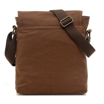 leegoal Men Vintage Casual Canvas Cross-Body Bag, Coffee - intl - 2