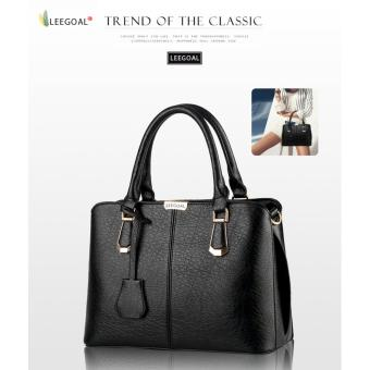 leegoal Womens Boutique PU Leather Shoulder Bags Top-Handle HandbagTote Purse Bag Black - intl Price Philippines