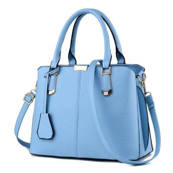 leegoal Womens Boutique PU Leather Shoulder Bags Top-Handle HandbagTote Purse Bag Blue - intl Price Philippines