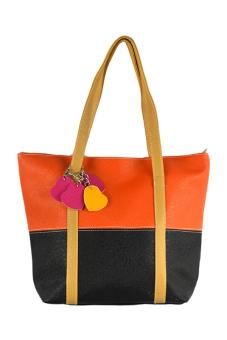 Leisure Handbag Tote Bag (Orange And Black)