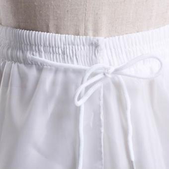 Leondo 3 hoops 1 layer hard tulle crinoline wedding dress petticoat- intl - 3