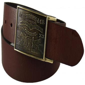 Levi's Men's Bridle Leather Belt Brown 40