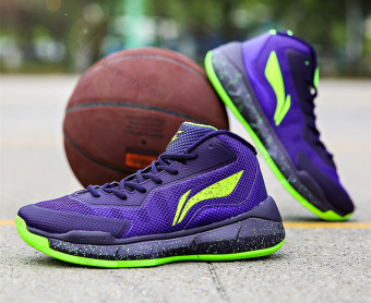 Li Ning abfl 013 red coconut Men's Basketball men's shoes authentic basketball shoes (ABFL013-4 Kobe Bryant purple)