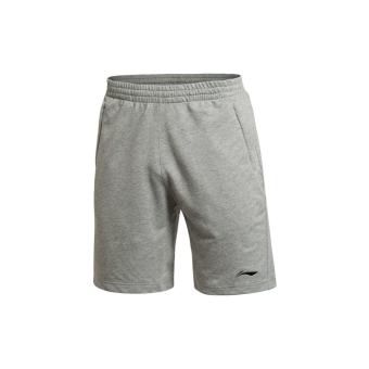 Li Ning aksk 119-1/aksk119-2-5 genuine men's breathable short casual shorts sweatpants (Gray)