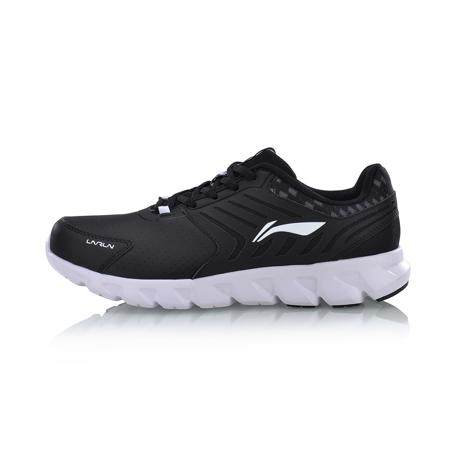 Li Ning Autumn New Style Damping Lightweight Couple S Shoes Running Basic Black