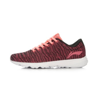 LI-NING autumn New style damping warm sports shoes women's shoes running shoes (New basic black/flourescent Hyun Powder)