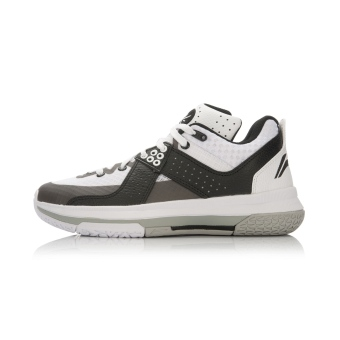 LI-NING autumn New style men's shoes basketball shoes (White/black)