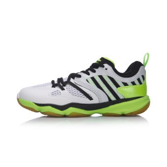 291313abf Online Li Ning aytm 074 wear non-slip low top sports shoes badminton shoes  (Standard white/flourescent light green) in Philippines