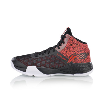 LI-NING hight-top sports shoes basketball shoes (New basic black/bright neon)