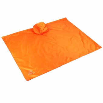 Lightweight Raincoat Rain Cape Poncho Backpack Position-Orange -intl - 2