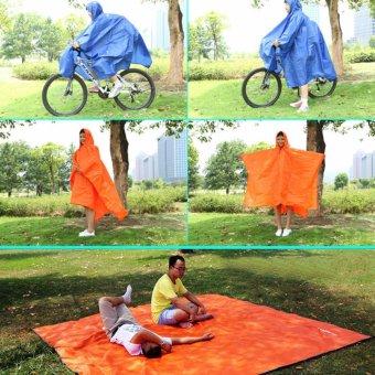 Lightweight Raincoat Rain Cape Poncho Backpack Position-Orange -intl - 4