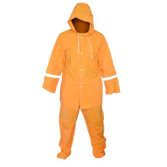 Lightweight Water Proof Unisex Rain Coat (Orange)