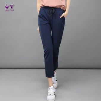 Likener Trend Casu Harem Pant Elastic Waist Ankle-length Pant (Navy Blue) - 3