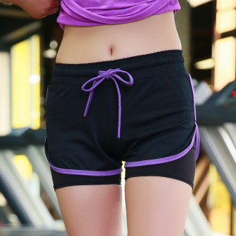 Lined with sports shorts female yoga casual shorts