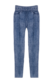 Linemart Slim Faux Jean Legging Pants (Blue)