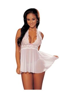 Lingerie Corset with G-string (White)