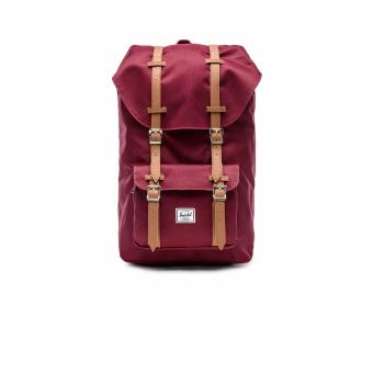 LITTLE AMERICA BACKPACK 25L 100% AUTHENTIC WINDSOR WINE/TAN