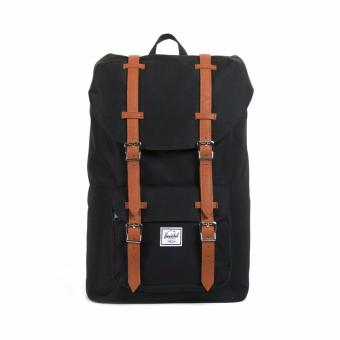 LITTLE AMERICA MID VOLUME BACKPACK 100% AUTHENTIC BLACK/TAN