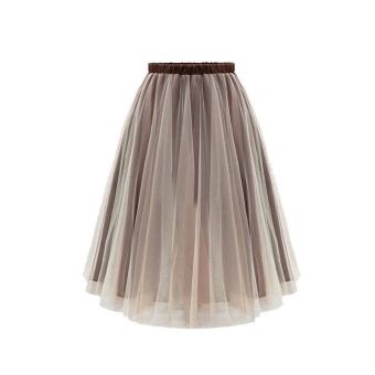 LIVA GIRL Fashion Organza Tutu Skirt For All-Purpose (Grey) - 2