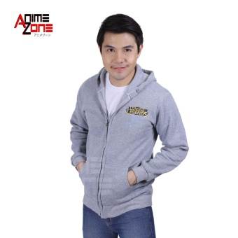 LOL League of Legends Unisex Zip-Up Hoodie Jacket (Light Grey)