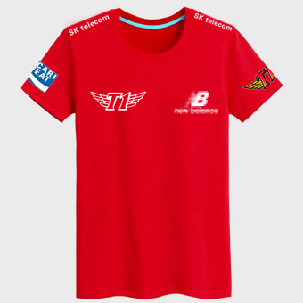 LOL SKT Team Uniform Short Sleeve T-Shirt (Black and white)